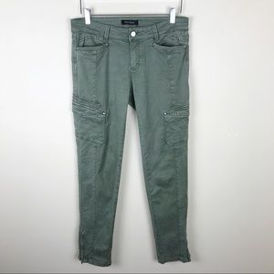 WHBM Utility Army Green Combat Jeans Ankle 6